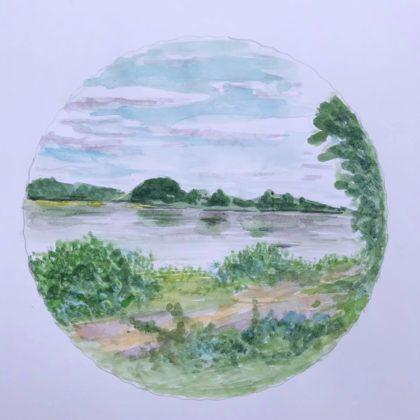 Griselda Mussett - R Loire near Amboise -
