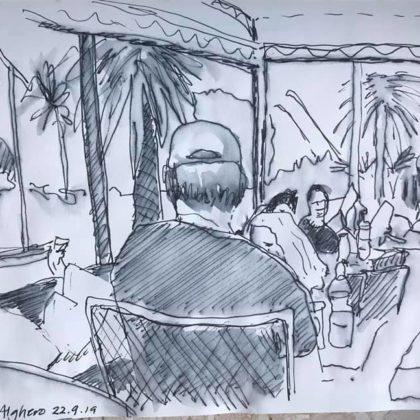 Griselda Mussett - Big guy, bar in Alghero -