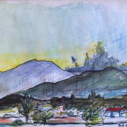 Griselda Mussett - Arbatax, Sunset -