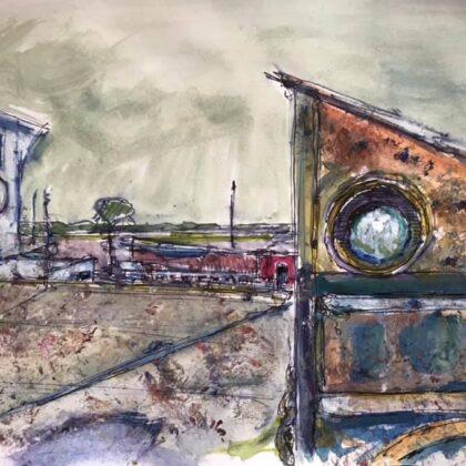 Griselda Mussett - Iron Wharf in January £75 -