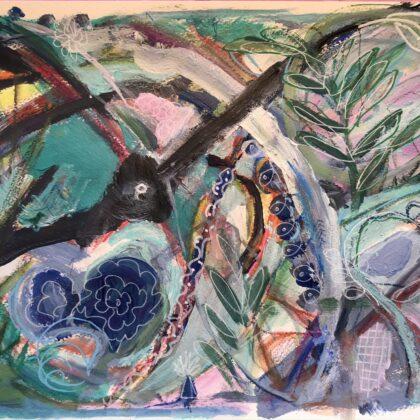 Griselda Mussett - Spring Mixed media on paper 24 x 30cm £90 -