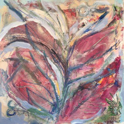 Griselda Mussett - Foliage Mixed media on 12